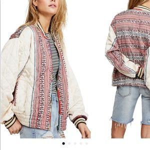 Free People Pandora Reversible Quilted Bomber